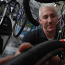 Mark, manager of the cycle department